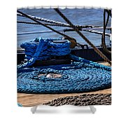 Moored Ship Shower Curtain