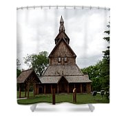 Moorhead Stave Church 1 Shower Curtain