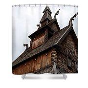 Moorhead Stave Church 11 Shower Curtain
