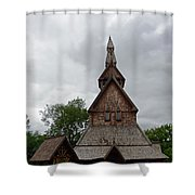 Moorhead Stave Church 2 Shower Curtain