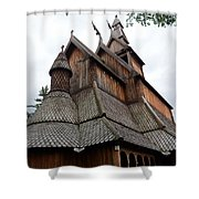Moorhead Stave Church 8 Shower Curtain