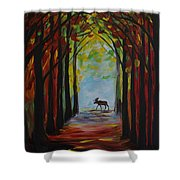 Moose Territory Shower Curtain