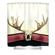 Moose Trophy Shower Curtain by Priska Wettstein