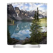 Moraine Lake In The Valley Of The Ten Shower Curtain