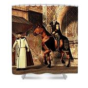 Mordechai And Haman Shower Curtain