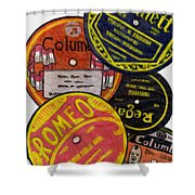 More Old Record Labels  Shower Curtain