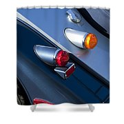 Morgan Plus 8 Tail Lights Shower Curtain