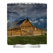 Mormon Barn Under Approaching Storm Shower Curtain