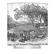 Mormon Flight, 1833 Shower Curtain by Granger