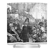 Mormon Service, 1871 Shower Curtain
