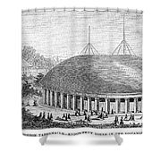 Mormon Tabernacle, 1870 Shower Curtain