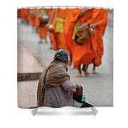 Morning Alms Shower Curtain