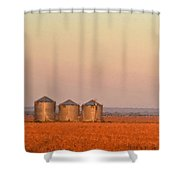 Morning At The Farm Watercolor Photoart Shower Curtain