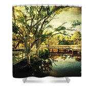 Morning At The Harbor Park Shower Curtain