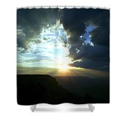 Morning Breaks At The Canyon Shower Curtain