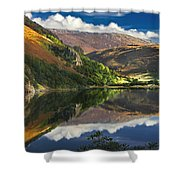 morning by Llyn Gwynant Shower Curtain