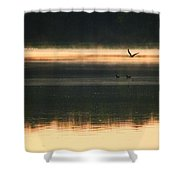 Morning Due Shower Curtain