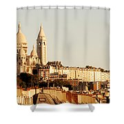 Sacre Coeur In A Summer Morning Shower Curtain