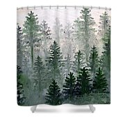 Morning In The Mountains Shower Curtain