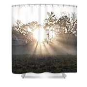 Morning Light At Valley Forge Farm Shower Curtain