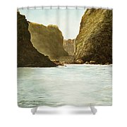 Morning Light On The Pacific Shower Curtain