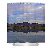 Morning Light On The River Shower Curtain