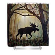 Morning Meandering Moose Shower Curtain