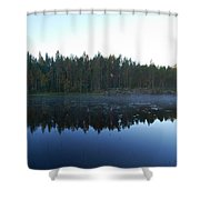 Morning Mist At Haukkajarv Shower Curtain