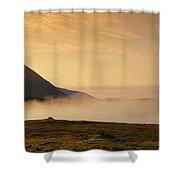 Morning Mist, Connemara, Co Galway Shower Curtain