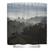 Morning Mist In Panama's Highlands Shower Curtain