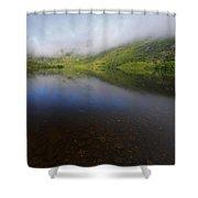 Morning Mist Over Gougane Barra Lake Shower Curtain