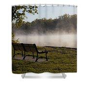 Morning Mist Over The Hudson River Shower Curtain