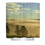 Morning Mist Over Trees, New Glasgow Shower Curtain