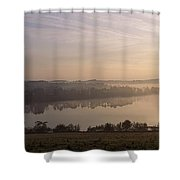 Morning Mist Over Vartry Lake, County Shower Curtain