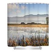 Morning Mists Of Cutler Marsh - Utah Shower Curtain