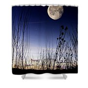 Morning Moonscape Shower Curtain