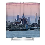 Morning On The Delaware River Shower Curtain