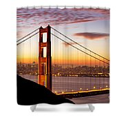 Morning Over San Francisco Shower Curtain