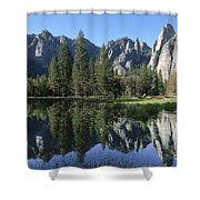 Morning Reflection At Yosemite Shower Curtain
