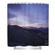 Morning Shooting Death Valley Shower Curtain