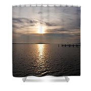 Morning Skies On The Chesapeake Shower Curtain