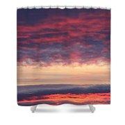 Morning Sky Portrait Shower Curtain