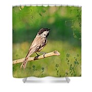 Morning Song Chickadee Shower Curtain