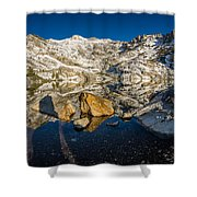 Morning Sun On Angel Lake Shower Curtain