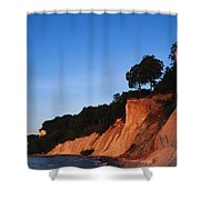 Morning View Of The White Cliffs Shower Curtain