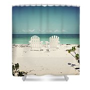 Morning View-vintage Shower Curtain
