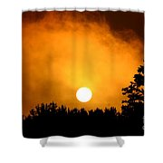 Morning's Mysterious Sunrise Shower Curtain