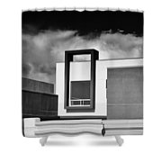 Morrison Window Bw Palm Springs Shower Curtain