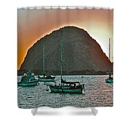Morro Bay Rock Shower Curtain