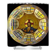 Mosaic Christ Shower Curtain